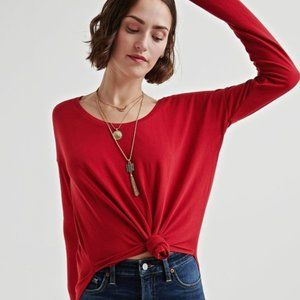 Lucky Brand | Red Long Sleeve Tee Size S